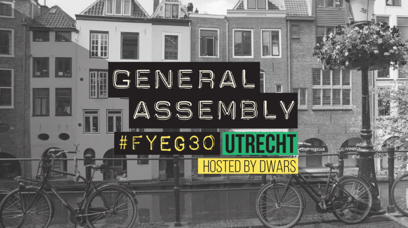 #FYEG30 Utrecht hosted by DWARS